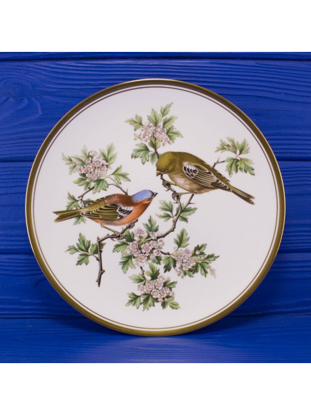 "Тарелка Spode ""Chaffinch"" (Зяблик) ⠀"