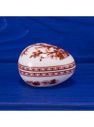 Миниатюрная шкатулка-таблетница Coalport дизайн Indian Tree в форме яйца