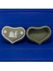 Шкатулка в форме сердца зелёный Jasper