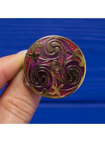 Брошь с эмалью в кельтском стиле от Sea Gems
