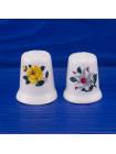 Очаровательная парочка фарфоровых наперстков с цветами