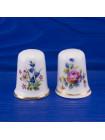 Пара нарядных наперстков с цветами от Raesuevic Ceramics. Английский костяной фарфор