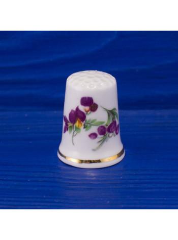 Коллекционный наперсток из костяного фарфора с цветами от Markay