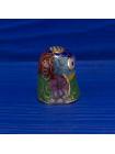 Коллекционный наперсток клуазоне в форме головы птицы