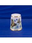Коллекционный фарфоровый наперсток от Royal Sutherland с бабочками