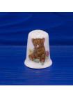 Милый фарфоровый наперсток с мишкой