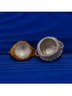 Редкий металлический коллекционный наперсток в форме курочки-наседки, подняв которую вы увидите снесенные ею яйца