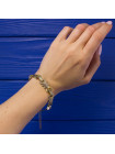 Винтажный браслет с перламутром, выполненный в стиле дамаскин