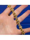 Элегантный винтажный браслет с кристаллами двух оттенков 1980 гг