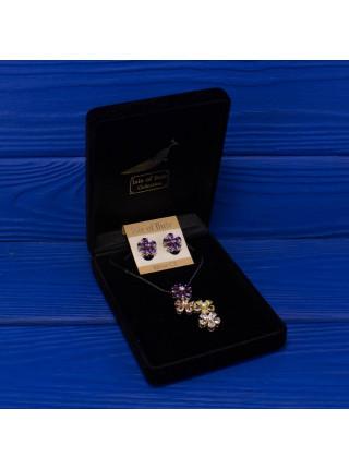 Нежный современный серебряный комплект в подарочной коробочке от Isle of Bute