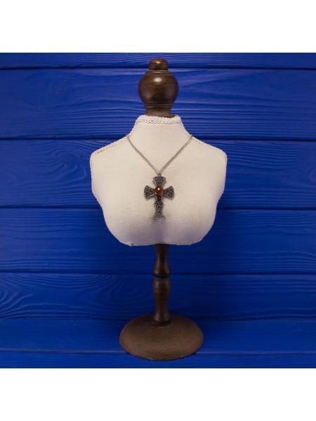 Стильный винтажный кулон в кельтском стиле в форме креста