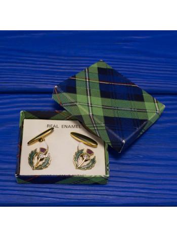Прекрасный подарок мужчине - винтажные запонки, украшенные эмалью
