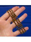 Сверкающий винтажный браслет с искристыми кристаллами цвета рубина