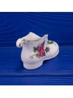 Винтажный фарфоровый башмачок с цветами