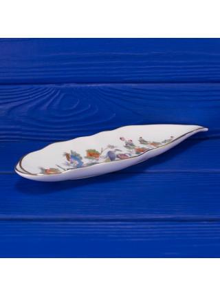 Винтажное фарфоровое длинное блюдо с журавлем дизайна Kutani Crane от Wedgwood