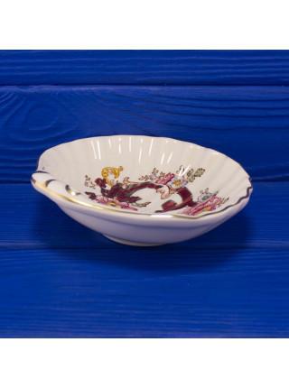 Винтажное коллекционное блюдце дизайна Mandalay Red от Mason s