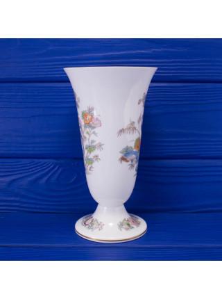 Винтажная фарфоровая ваза с журавлем дизайна Kutani Crane от  Wedgwood