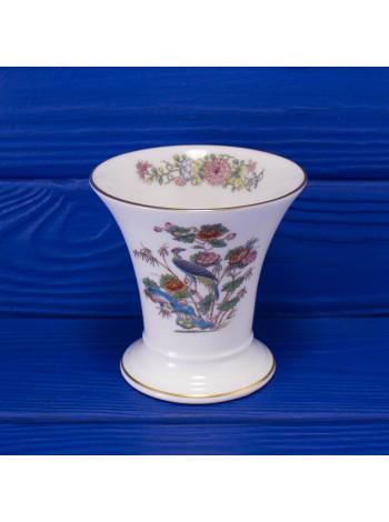Винтажная фарфоровая ваза-стакан с журавлем дизайна Kutani Crane от  Wedgwood