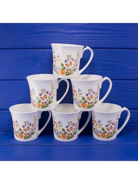 Подарочный набор из шести фарфоровых кружек дизайна Cottage Garden от Aynsley