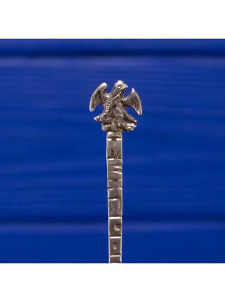 Сувенирная ложечка из мексиканского серебра 850 пробы с изображением герба Мексики