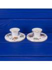 Винтажные фарфоровые подсвечники с журавлем дизайна Kutani Crane от  Wedgwood