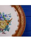 Роскошная винтажная тарелка из Франции от Porcelaine de Couleuvre