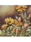 "Декоративная фарфоровая тарелка от Border 5932 ""The Marigold Fairy"" из коллекционной серии ""The Festival of Flower Fairies"""