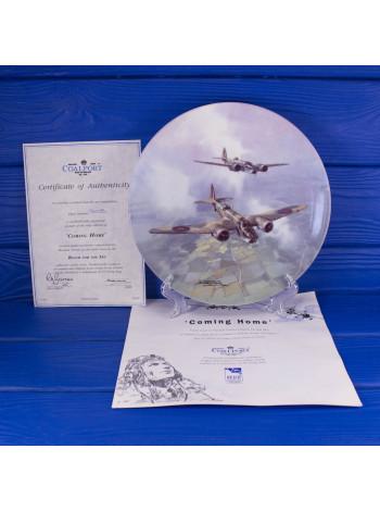 Тарелка Coalport № 3410B Coming Home с сертификатом и брошюрой