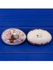 Редкая винтажная шкатулка в форме яйца, расписанная вручную, от Masons