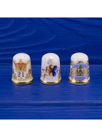 Трио коллекционных наперстков от Caverswall