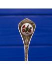 Сувенирные посеребренные ложечки из Австралии, на которых изображены типичные для этой страны цветы