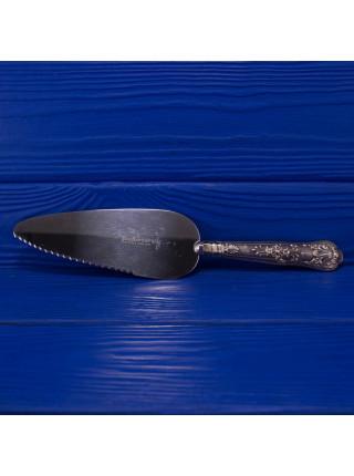 Роскошная винтажная лопатка для торта с серебряной ручкой от Harrison Brothers