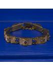Винтажный браслет с перламутровыми вставками, выполненный в стиле дамаскин