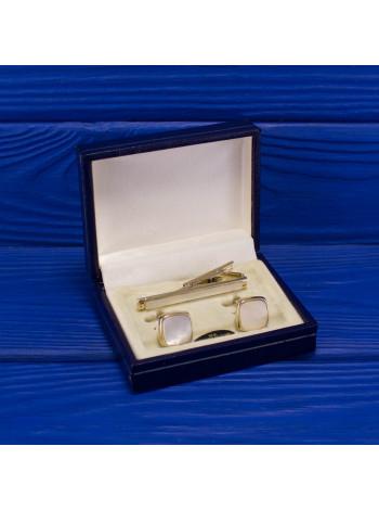 Комплект от Stratton зажим и запонки с перламутром