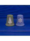 """Комплект коллекционных наперстков Wedgwood """"Снежинка"""" и """"Рождественская елка"""", выпущенных к Рождеству 1981 года"""