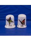 Пара фарфоровых наперстков с бабочками