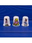 Комплект фарфоровых коллекционных наперстков со сказочными персонажами