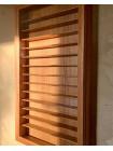 Витрина ручной работы для коллекции миниатюр или напёрстков из кавказского дуба