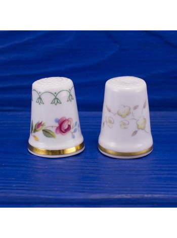 Пара винтажных коллекционных наперстков из английского костяного фарфора от Royal Doulton