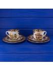 Чайные трио с изображением птиц из коллекционной серии Game Series  от Palissy