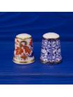Пара роскошных винтажных коллекционных наперстков Royal Worcester