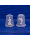"""Комплект коллекционных наперстков Wedgwood """"Ангел Благовещения"""" и """"Дева Мария"""", выпущенных к Рождеству 1986 года"""