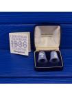 """Комплект коллекционных наперстков Wedgwood """"Ангел Благовещения"""" и """"Дева Мария"""", выпущенных к Рождеству 1986 года, в оригинальной коробочке"""