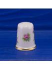 Фарфоровый коллекционный наперсток с розами от Limoges