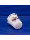 Коллекционный наперсток из костяного фарфора с розочкой