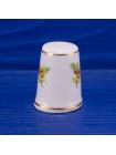 Коллекционный наперсток с желтой розой из английского костяного фарфора от Sheer Elegance