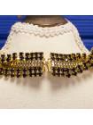 Роскошный винтажный комплект 60-х годов: колье и клипсы с кристаллами цвета коньячного бриллианта