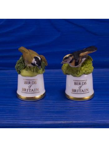 "Пара наперстков ""Coal Tit и Long-tailed Tit"" серии BIRDS of BRITAIN от Sutherland"