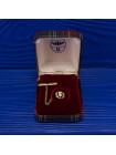 Винтажный шотландский зажим-значок для галстука с чертополохом в оригинальной коробочке