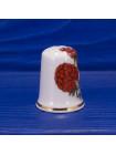 Фарфоровый коллекционный наперсток с изображением малины от Pyramid Pottery